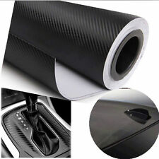 "24""x100"" 3D Black Carbon Fiber Vinyl Car Wrap Sheet Roll Film Sticker Decal"