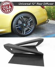 "12"" G3 Rear Bumper Wing Lip Apron Splitter Diffuser Canard w/ Vent For Chevy"