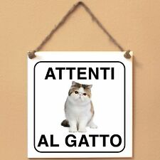Exotic Shorthair 4 Attenti al gatto Targa gatto cartello ceramic tiles
