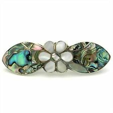 Handmade Abalone and Mother of Pearl Daisy Hair Barrette