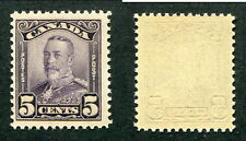 MNH Canada 5 Cent KGV Scroll Stamp #153 (Lot #9526)