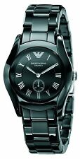 OROLOGIO ARMANI CERAMICA AR1402 NERO ALL BLACK NUOVO DONNA NEW WOMAN