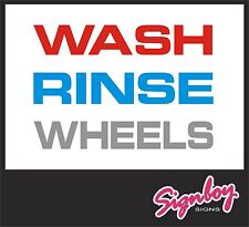 CAR Detailing Wash, Rinse, Wheels - Bucket Stickers - Concours / Show Car etc.