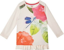 New Girls Designer Ted Baker Rose Floral Light Pink Party Top Age 12-13 Years