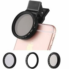 ZOMEI 3in1 Clip on Pro CPL+Close up+ND2-400 fader filter for iphone Samsung lens
