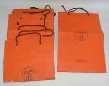 """AUTHENTIC HERMES GIFT CARRIERS X 7 - 16"""" HIGH X 11"""" WIDE X 4"""" DEEP - PRE-OWNED"""