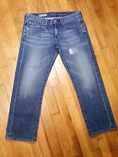 AG Adriano Goldschmied The Tomboy Crop Relaxed Straight Crop Jeans Size 27 r