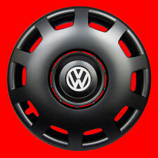 "4x16"" wheel trims for Volkswagen VW Sharan Golf Transporter T5 - BLACK MATT 16''"