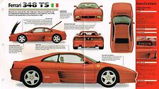 FERRARI 348 TS / 348TS SPEC SHEET / Brochure / Catalog: 1991,1992,1993,1994