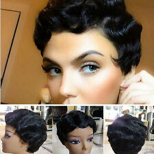 New Fashion Afro African Synthetic Hair for Black Women Short Small Curly Wig