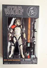 Star Wars The Black Series Sandtrooper #03 Orange Pauldron Hasbro Box Not Mint*