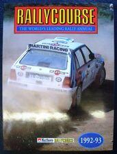 RALLYCOURSE 1992-1993 annuale 11a edizione Motorsport il WRC AUTO BOOK