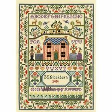 Bothy threads country cottage sampler cross stitch kit par moira blackburn