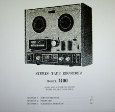 AKAI 4400 4400D STEREO TAPE RECORDER SERVICE MANUAL INC SCHEMS PRINTED ENGLISH