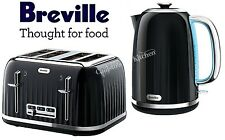 Breville Impressions Kettle and Toaster Set Black Kettle & 4 Slice Toaster New
