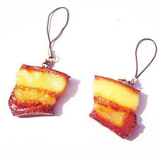 1 Pcs Simulated Bouilli Vivid Pork Meat Food Pendant Keychain Mobile Chain Toy