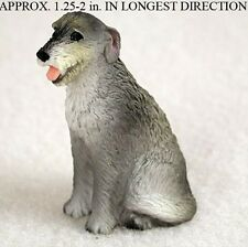 Irish Wolfhound Mini Resin Hand Painted Dog Figurine