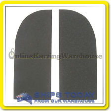 GO KART SEAT PADDING HIGH DENSITY RUBBER 2 PIECE SELF ADHESIVE CUSHION PAD SET !