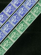 FRANCE : 1938. Maury Roulette #29, 32, 33. Strips of 11. All VF MOGLH. Cat €2335
