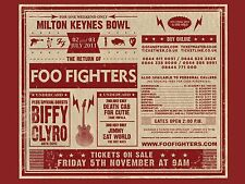 "The Foo Fighters Milton Keynes 2011 16"" x 12"" Photo Repro Concert Poster"