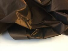 "NEW Designer Gorgeous Bronze 100% Silk Taffeta Fabric 54""139cm Bella Dress Cloth"