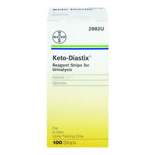 Keto-Diastix Tests for Urine Glucose and Ketone 100 Strips keto