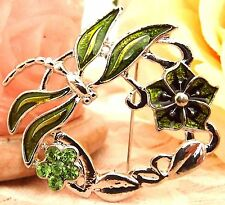 Rhinestone Crystals Brooch new