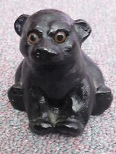 COLLECTIBLE AARKTIK BLACK BEAR CUB SOAP STONE SCULPTURE ~ MADE IN CANADA
