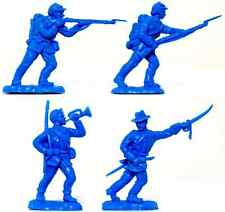 25 Britains Herald Civil War Union Infantry Recasts - Unpainted Toy Soldiers