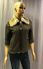 NEW D&G BY DOLCE GABBANA 3/4 SLEEVE LAMB SHEARLING JACKET COAT SZ 40