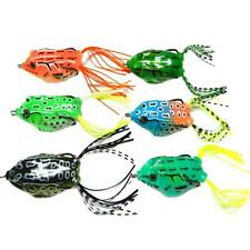 6pcs Frog Snakeheads Bait Fishing Lures Bass Soft Bait
