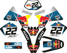 DECAL STICKER KIT IN MX VINYL FITS ktm exc 250 (NON OEM)