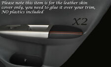 ORANGE STITCH 2X FRONT DOOR ARMREST SKIN COVER FITS SUBARU IMPREZA WRX STI 08-13
