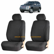 BLACK SPEED AIRBAG COMPATIBLE FRONT LOWBACK SEAT COVERS for GMC ACADIA SIERRA