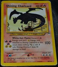 Holo Foil Shining Charizard # 107/105 Neo Destiny Set Pokemon Trading Cards DA