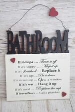 Plaque Bathroom Rules Wall Plaque if it Drips Turn it Off Wall Sign F1201