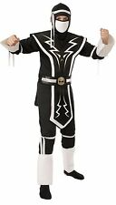Boys White Black Skull Elite Ninja Halloween Costume Size Medium Rubies Dragon
