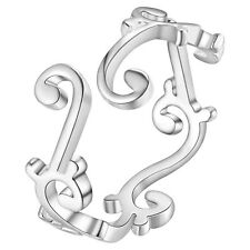 Adjustable Male Female 925 fine silver rings ring jewelry gift