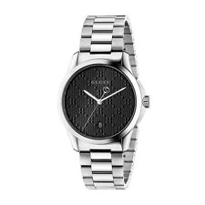 New Gucci G-Timeless Black Dial Stainless Steel Men's Watch YA126460