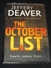 wmf* SALE : JEFFERY DEAVER ~ THE OCTOBER LIST   hb