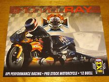 2016 MICHAEL RAY UPI PERFORMANCE PRO STOCK MOTORCYCLE NHRA POSTCARD