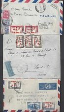 LEBANON 1947 VICTORY ISSUES 3 FRANKED POST WAR COVERS