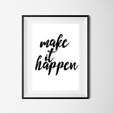 Inspirational Quote Poster Art Print A4 Typography Decor gift wall decor Love