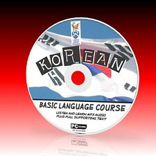 LEARN TO SPEAK KOREAN PCCD LANGUAGE COURSE EASY BEGINNER PROGRAM MP3 + TEXT NEW