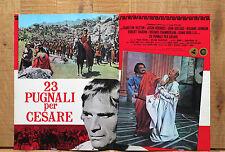 23 PUGNALI PER CESARE fotobusta affiche poster Charlton Heston Julius Caesar