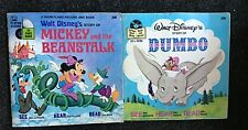 4 Walt Disney's MIckey and the Beanstalk & Dumbo Bambi Winnie Record Book 33 1/3