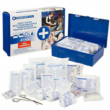 41 pezzi Compact MEDICAL FIRST AID KIT TRAVEL BOX EMERGENZA LAVORO AUTO CASA