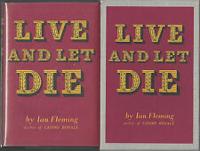 IAN FLEMING - LIVE AND LET DIE - FEL w/DJ SLIPCASE