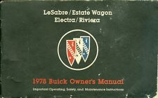 1978 Buick LeSabre/Estate Wagon/Electra/Riviera Owner's Manual