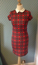Vintage plolyester 1970's check mini dress by Quiz size 8